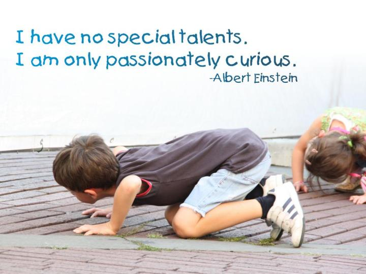 Albert Einstein, passionately curious, ParkerMather