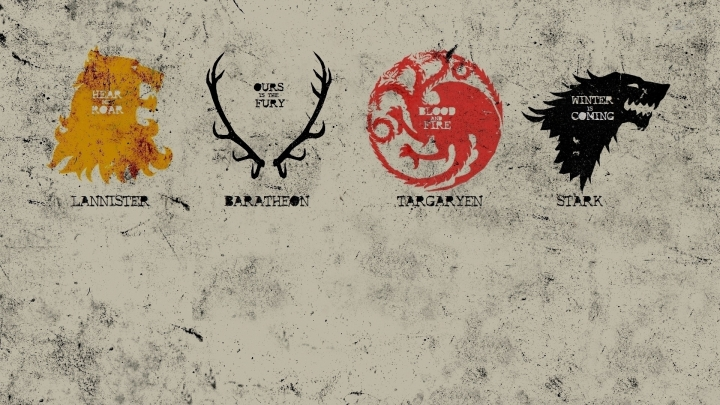Game of Thrones houses, families