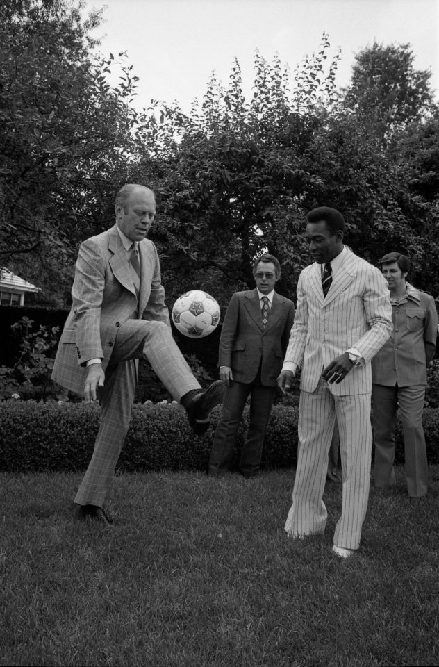 Gerald Ford and Pele at the White House