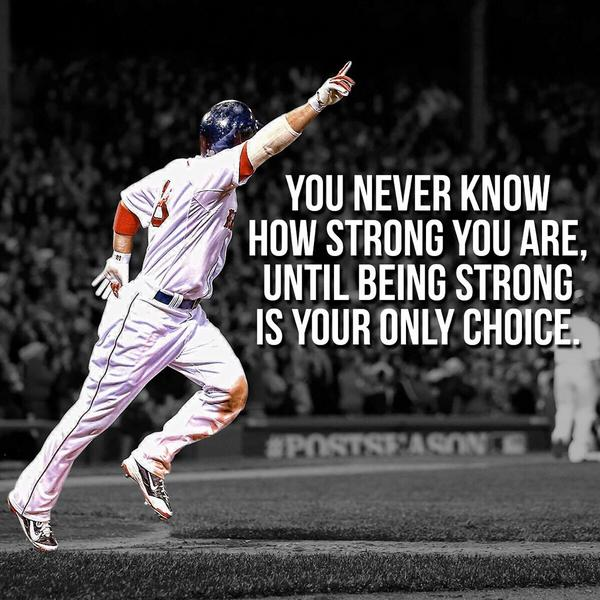 Being strong - @ShaneVictorino