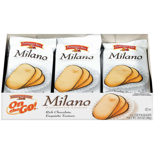 Milano cookies, consumer packaged goods, Pepperidge Farm
