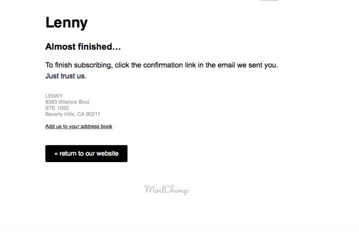 Lena Dunham email - Lenny - Mailchimp