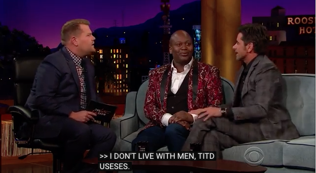James Corden Titus Burgess and John Stamos YouTube.png