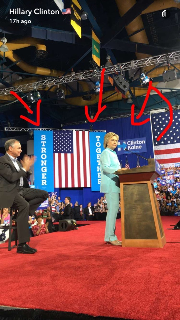 Hillary Clinton Tim Kaine Snapchat